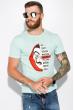 Мужская футболка 134P022 сериал Бумажный дом мятный