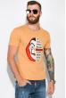 Мужская футболка 134P022 сериал Бумажный дом горчичный