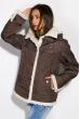 Куртка женская с меховой оборкой 127P001 коричневый