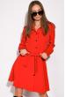 Лаконичное платье 120POI20008 красный