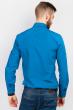 Рубашка мужская классика много цветов 333F002 синий