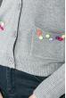 Кофта женская декорированная пуговицами 81PD161 серый