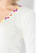 Кофта женская декорированная пуговицами 81PD161 молочный