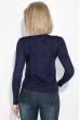 Кофта женская декорированная пуговицами 81PD161 темно-синий