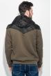 Толстовка мужская с капюшоном, стеганный верх 70PD5003 хаки