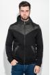 Толстовка мужская с капюшоном, стеганный верх 70PD5003 черный