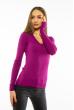 Пуловер женский с V-образным вырезом 618F070 фиолетовый