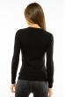 Пуловер женский с V-образным вырезом 618F070 черный