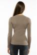 Пуловер женский с V-образным вырезом 618F070 капучино