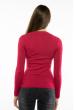 Пуловер женский с V-образным вырезом 618F070 темно-розовый