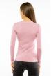 Пуловер женский с V-образным вырезом 618F070 розовый