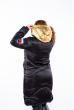 Куртка женская с золотым капюшоном 120PSKL837 черный