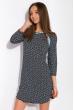 Ночная женская сорочка 107P13-4 темно-синий / голубой принт