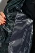 Пуховик женский с меховыми вставками на рукаве 127PZ18-270 сине-черный