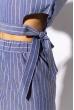 Костюм брючный в полоску 215P025 джинс