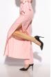Костюм брючный в полоску 215P025 розовый