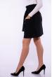 Женская юбка  на высокой посадке 176P002 черный