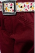 Джинсы для девочек 125P012 junior бордовый