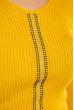 Джемпер приталенного кроя 605F002 желтый