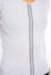 Джемпер приталенного кроя 605F002 светло-серый