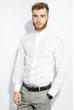 Рубашка мужская 100% коттон 333F008 белый