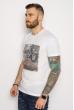 Мужская хлопковая футболка 627F013 белый