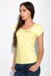 Футболка женская с круглым вырезом 434V002-1  лимонный