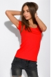 Футболка женская с круглым вырезом 434V002-1  красный