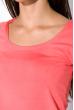 Футболка женская с круглым вырезом 434V002-1  темно-розовый