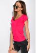 Футболка женская с круглым вырезом 434V002-1  кислотно-розовый