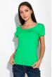 Футболка женская с круглым вырезом 434V002-1  зеленый