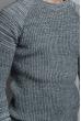 Свитер мужской повседневный 377F001 серо-черный