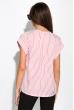 Блуза в полоску на молнии 120PKRM203-2 красно-белый