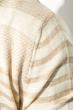 Кардиган мужской комбинация узоров 50PD13508 бежево-карамельный