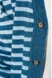 Кардиган мужской комбинация узоров 50PD13508 сине-серый