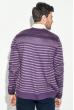 Кардиган мужской комбинация узоров 50PD13508 фиолетовый