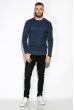 Джемпер 520F007 черный-джинс