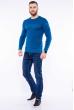 Джемпер 520F007 сине-бирюзовый