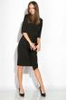 Платье (полубатал) на запах 136P685 черный