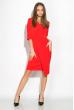Платье (полубатал) на запах 136P685 красный
