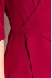 Платье (полубатал) на запах 136P685 вишневый