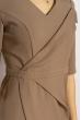 Платье (полубатал) на запах 136P685 бежевый