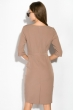 Платье (полубатал) на запах 136P685 капучино