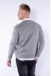 Пуловер 645F001 серый
