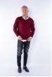 Пуловер 645F001 бордо