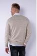 Пуловер 645F001 бежевый
