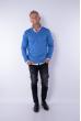 Пуловер 645F001 голубой