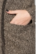 Кардиган женский теплый 64PD304-3 коричневый , петля
