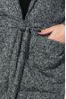 Кардиган женский теплый 64PD304-3 серый , петля