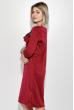 Платье женское гипюровая вставка на груди 72PD136 вишневый